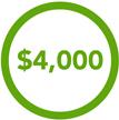 $4,000